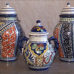 Colorful Lidded Jars