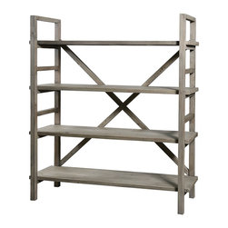 Farmhouse Baker Rack Bookshelf - Farmhouse collection is inspired by a time when wood furniture was joined to perfect by carpenters and cabinet makers. Our artisans have managed to recreate this effect in each piece of the Farm House collection, which is crafted of recycled and reclaimed wood.