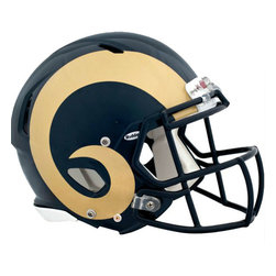 Brewster Home Fashions - NFL St Louis Rams Teammate Helmet 3pc Wall Sticker Decal Set - FEATURES: