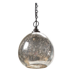 Regina Andrew - Regina Andrew Antique Mercury Glass Float Pendent - Antique Mercury Glass Float Pendent by Regina Andrew.