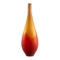 Cyan Design - Cyan Design Lighting 01666 Large Vizio Yellow And Orange Vase - Cyan Design 01666 Large Vizio Yellow And Orange Vase