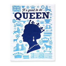 """Naked Decor - Good to be Queen Tea Towel - Size: 20"""" x 28"""""""