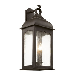 """Trans Globe Lighting - Trans Globe Lighting 40232 3 Light 20.75"""" Outdoor Wall Sconce with Clear Seeded - Specifications:"""