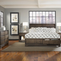 Legacy Classic Furniture - Complete Sleigh Bed with Storage Footboard -