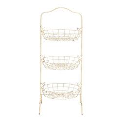 Simply and Unique Metal Basket Rack - Description: