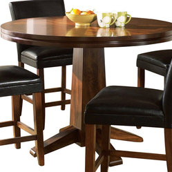 Steve Silver - Steve Silver Serena 48 Inch Round Counter Height Table - The Serena Collection is the perfect fit for a small area or breakfast nook. The table features a double edge with a pedestal base wrapped in a dark cherry finish. What's included: Counter Height Table (1).