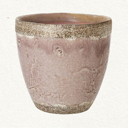 Purple Glaze Pot - Finding beautiful glazed pots can be challenging — especially when you see terracotta ones everywhere. The muted plum glaze and rustic texture complement this rough-hewn ceramic pot well. Put in flowering oregano and you've got yourself a perfect pair.