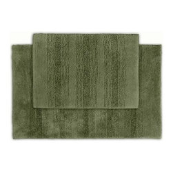 2 Piece Enclave Bath Rug Set - Make your bath as stylish as the rest of your home with the 2 Piece Enclave Bath Rug Set. This super soft bath set is available in a variety of gorgeous colors, perfect for any bathroom. The colorfast design and ultra durable construction will keep your bath beautiful for years.About Garland SalesEstablished in 1974, Garland Sales, Inc. has grown as a leading manufacturer and supplier of a wide range of fashionable, tufted area rugs and decorator bath rugs. Operating in the heart of the carpet manufacturing industry in Dalton, GA, Garland Sales, Inc. continues to expand its product line through innovative product development and milestone merchandising techniques. Offered in a wide array of yarns, patterns, colors, weights, and backings, their products are sought after throughout the country. The colorfast designs, quality construction, and lasting beauty of a Garland Sales rug is a look and feel you'll love in your bathroom for years.