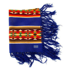 Pendleton - Consigned Royal Blue Child's Pendleton Wearing Blanket - Royal Blue Pendleton Wearing blanket in child's size with fringe.