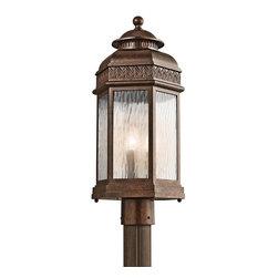Kichler Lighting - Kichler Lighting Tolland Traditional Outdoor Post Lantern Light X-ZRB66494 - Kichler Lighting Tolland Traditional Outdoor Post Lantern Light X-ZRB66494