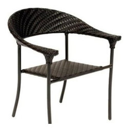 Woodard Barlow Dining Arm Chair - Our Barlow Dining Chair by Woodard Furniture is constructed of All Weather Wicker.All Weather Wicker Arm Chair