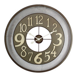 YOSEMITE HOME DECOR - Iron Wall Clock - This posh wall clock features an intricate mesha pattern and is made of durable iron. Add some character to your home with this unique wall clock.
