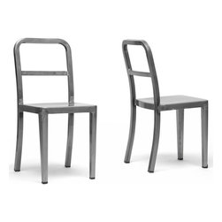Wholesale Interiors - Modern Dining Chair - Set of 2 - An on-trend industrial inspiration makes our Echo Modern Dining Chair very of-the-moment but simple, clean design ensures a lifetime of appeal.