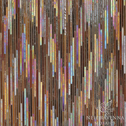 Pamir Jewel Glass Mosaic - Pamir, a jewel glass mosaic shown in Carnelian and Tortoise Shell, is part of the Ikat Collection by New Ravenna Mosaics.