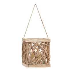 Benzara - High Quality Wooden Lantern for Indoor and Outdoor Use - High Quality Wooden Lantern for Indoor and Outdoor Use. Revamp your decor with this lantern with an old world charm. Some assembly may be required.