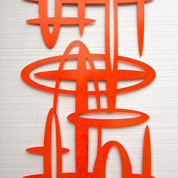Space No 11 in Powder Coated Aluminum - Space No 11 in Powder Coated Aluminum