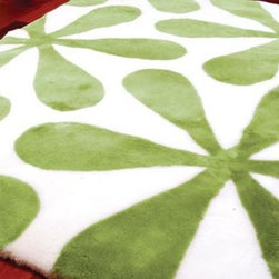 Shearling Wool Rugs - Retro Green Flowers Shearling Designer Rug Penny Lane https://www.ultimatesheepskin.com/product/shearling-designer-area-sheepskin-rug-penny-lane/