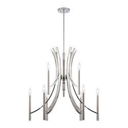 Designer Fountain - Cordova 9-Light Chandelier - 9-light chandelier
