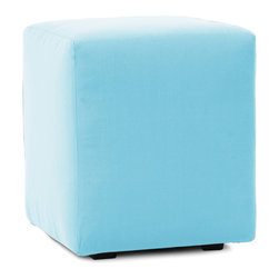 Howard Elliott - Starboard Breeze Universal Cube Cover - Take the party outside by updating your Universal Cube with a Patio Cover! Special patio fabric covers withstand the elements, while adding a pop of color to your outdoor decor. Easily update your look with a new Patio Cube Cover or 2! The cover is made of fun, bright outdoor colors giving your cube the durability to last seasons to come. This Starboard Breeze piece is 100% solution dyed acrylic finished in an light blue breeze color. 18 in. W x 18 in. D x 20 in. H
