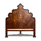 Bedroom Furniture - A bed that is beautifully hand crafted with an ornate hand painted floral scroll with medallion design. See more at www.KoenigCollection.com
