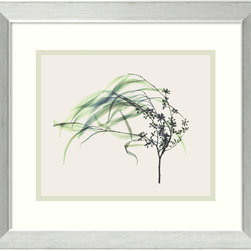 """Amanti Art - """"Wind"""" Framed Print by Steven N. Meyers - Nature and movement are two elements artist Steven N. Meyers excels at showcasing as seen in this effortless piece. This custom matting and frame around this lovely print will help to lighten up any room in your home or office."""