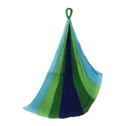 "Yellow Leaf Hammocks - ""Yellow Leaf Hammocks Lanta Sitting Hammock, Peacock Blue/Clover Gre..."" - ""Yellow Leaf Hammocks Lanta Sitting Hammock, Peacock Blue/Clover Green/Kelly Green A SIGNATURE """"insanely cozy"""" Yellow Leaf hammock- 100% hand-woven and technically engineered for extreme comfort, durability & strength. KICK BACK and let the Yellow Leaf Sitting Hammock rock your cares away. Part tree-swing, part recliner, this hammock is a breezy oasis for the solo ham mocker. Grab a book or a favorite playlist and let inspiration take hold."""