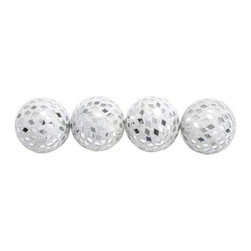 Benzara - Attractive Silver Colored Mirror Mosaic Ball Set of 4 - Attractive Silver Colored Mirror Mosaic Ball Set of 4. Accentuate your home decor with these attractive mirror mosaic balls. Each mosaic ball comes in dimensions of 9 x 4 x 9 each . Some assembly may be required.