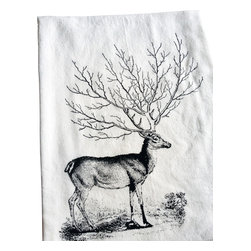 The Coin Laundry - Deer Tree Antler Kitchen Towel - Oh deer!