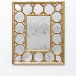 Geoffrey Gold Leafed Mirror - Clayton Gray Home -