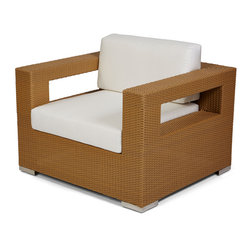 Caluco - 10 Tierra Club Chair - The 10 Tierra Club Chair combines style, durability, and comfort to provide unmatched value in outdoor seating.  Pictured in the moccaccino wicker.