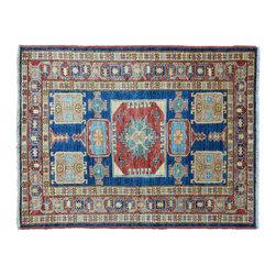 1800GetARug - Oriental Rug Hand Knotted Rug Denim Blue Super Kazak Sh11143 - About Tribal & Geometric