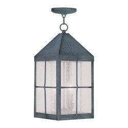 Livex Lighting - Livex Lighting 2683-61 Brighton Outdoor Pendant Hammered Charcoal Finish - -Finish: Hammered Charcoal