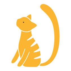 My Wonderful Walls - Tabby Cat Stencil for Painting - - 2-piece tabby cat stencil