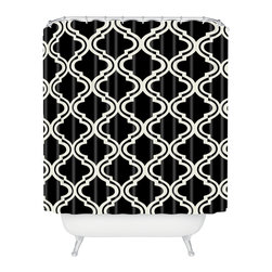 DENY Designs - Mary Beth Freet Geo Diamonds Shower Curtain - Who says bathrooms can't be fun? To get the most bang for your buck, start with an artistic, inventive shower curtain. We've got endless options that will really make your bathroom pop. Heck, your guests may start spending a little extra time in there because of it!