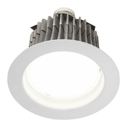 "Cree - 6"" LED Recessed Lighting Retrofit Trim GU24 Base - The LR6 downlight module is for both new and retrofit construction. It installs easily in most standard six inch recessed light housings including IC and non-IC units. The LR6 generates white light with built-in LED bulbs that offers a natural glow with high energy savings. Light output is 650 lumens. Pulls 12 watts of power. Utilizes GU-24 base for new light conversion construction projects in California and other areas where high energy efficacy line voltage sockets are required. The modules are dimmable with an estimated life around 50000 hours 5 times that of most compact fluorescent lamps. They consume only 12 watts of power but produce the equivalent of a 65 watt incandescent or 18 watt compact fluorescent. With an average usage at 5 hours a day you could get over 25 years of life out of a single recessed lighting fixture depending on how it is used. Title 24 Compliant  White finish.  Twist and lock base.   6"" recessed light module.  6"" LED 2700K in color.  GU-24 base.  Light output is 650 lumens.  Dimmable.  Estimated life of 50000 hours.  12 watt LED array; replaces a 65 watt incandescent.  Actual bulb life may vary.   Title 24 Compliant  Manufacturer warranty of 4 years.   MFG. Ten years Warranty.  UL listed for damp locations."