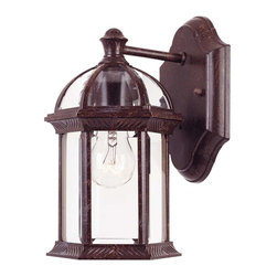 Savoy House - Savoy House Kensington Wall Mount Lantern in Rustic Bronze - 5-0629-72 - Classic exterior fixture available in two finishes: Textured Black and Rustic Bronze with Clear Beveled Glass.