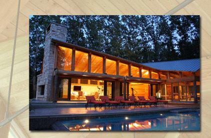 Modern Pool by Robert J. Neylan Architects, Ltd.