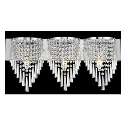 Z-Lite - Z-Lite Tango Bathroom Light X-V3-HC868 - Glittering crystal, draped perfectly over the chrome fixture, allows for a statement of unstrained elegance on this three light vanity.