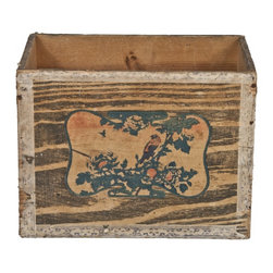 Japanese Wood Crate - Vintage wood crate from Japan. Marked 40-1/4lb. Alum. Pkts. Defiance from Japan.