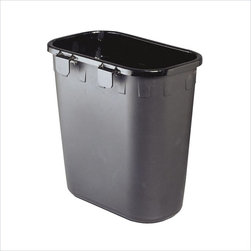 Safco - Safco Black Paper Pitch (Set of 12) - Safco - Waste Baskets - 2944BL - Economical waste paper basket creates a recycling station at every office desk. Hanging tab design allows mounting on any square or rectangular wastebasket. Easy lift off and repositioning for maintenance staff. Polyethylene plastic. 12 per carton.