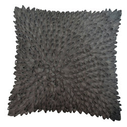 Napier Loops Toss Cushion - Urban Barn went for full-on 3-D texture with this charcoal pillow.