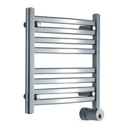 mr. steam - Mr. Steam W216 Electric Heated Towel Warmer - Transforming bathrooms into private spas, Mr. Steam has been in the business of creating well designed and durable steam products for over 50 years. The ultimate indulgence after a steam bath or shower is wrapping yourself in a freshly warmed towel. Mr. Steam's Series 200 towel warmers are available in a multitude of sizes and three finishes to perfectly match your bath and even tight budgets, providing luxury benefits for all. Towel warmers create a straight from the dryer warmth on towels and clothing. They also dry damp towels to help prevent mildew, are a place to dry your delicates, and to warm up blankets or quilts at night. Mr. Steam uses sustainable recyclable stainless steel in all home products and includes a 2-Year Limited-Warranty for towel warmers. Features & Specs Quality, design and performance you've come to expect from a Mr.Steam product Prices that fit even the tightest budget Wall-mount models save space and give a built in look Sleek curved lines maximize surface heating area Simple elegance complements any bathroom cULus Listed All diagrams are for illustrative purposes only Standard with built in Aromatherapy oil well 100 Watts, 120 Volts 2-Year Limited-Warranty for towel warmers View Specs, Installation, and Operation Information for the 200 Series