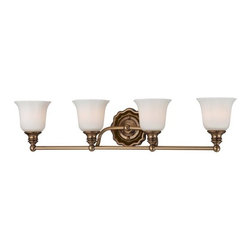Minka Lavery - Minka Lavery 6594 4 Light Bathroom Vanity Light from the Felice Collection - Four Light Bathroom Vanity Light from the Felice CollectionFeatures: