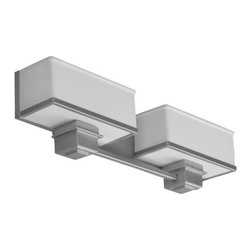 "AFX Lighting - AFX Lighting SHV218SNSCT-LA Two Light 23.25"" Wide Bathroom Fixture from the Sher - Contemporary / Modern Two Light 23.25"" Wide Bathroom Fixture from the Sheridan CollectionContemporary styled wall mount armed vanity has individual white linen acrylic shades set against a satin nickel or champagne back pan and offered in 2, 3 or 4 light options. Decorative accent details are die cast metal. ADA compliant. Fixture mounts horizontally to standard junction box (not included). The mounting plate and back pan are die-formed of 22-gauge steel. The decorative arm detail is die cast metal. Product is provided with standard mounting holes and wiring access.When you consider lighting, be bold, be original, be environmentally smart. Choose American Fluorescent. Offering the perfect union of lighting beauty and smart design, American Fluorescent has re-defined energy-efficient lighting.Features:"