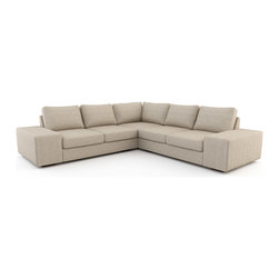 Viesso - Strata L Sectional w/ Sofa Bed (Custom) - Sometimes bigger is better. The Strata is our most popular sofa design. It has a very modern look and with the deep frame embodies what it means to have a loungy sectional sofa. It's the perfect modern sofa for lounging around, watching a film, entertaining or taking a quick nap. Low, wide arms invite additional guests to sit, can be hallowed out for storage, and are the ideal surface for a laptop or your glass of wine. Please note that if needed, the Strata sectional and its pieces can be made in any size to the inch to fit your space perfectly.