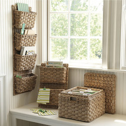 Ballard Designs - Teagan Office Accessories - This will help with wall storage and file storage as well. I like the natural nubby woven texture.