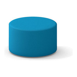 Turnstone - Campfire Ottoman - The Campfire Ottoman is a round, versatile ottoman for home or office - but it's especially at home in the office. Super light for easy portability, the Ottoman is upholstered in polyester with foam padding on a strong wood frame. Plastic feet protect your floor.