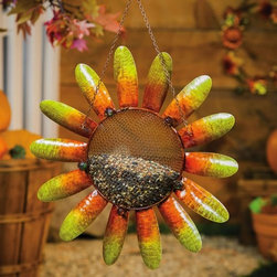 Evergreen Enterprises - Harvest Shimmer Sunflower Birdfeeder - Harvest Shimmer Sunflower Birdfeeder