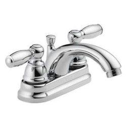 DELTA FAUCET - P299675LF Chrome 2H Lavatory Faucet - Two-Handle Lavatory Faucet W/POP-UP