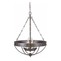 "Murray Feiss Lighting - Murray Feiss Lighting-F2828/6GBZ-Live, Laugh, Love - Six Light Chandelier - *Overall Dimensions: H- 27.5"" D- 20.125"" C- 5.5"""